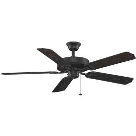 Fanimation BP230BL1 Aire Décor BP230 Builder Series Fan, 5850 CFM, 188 RPM, Black