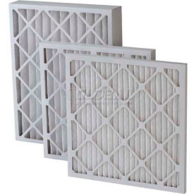 "Filtration Manufacturing 0208H-12121 Pleated Filter, Merv 8, High Capacity, 12""W x 12""H x 1""D - Pkg Qty 24"