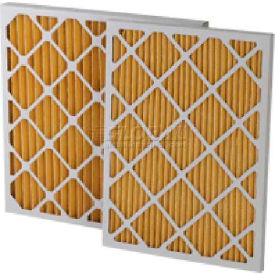 "Filtration Manufacturing 0211-16204 Pleated Filter, Merv 11, 16""W x 20""H x 4""D - Pkg Qty 6"