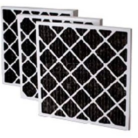 """Filtration Manufacturing 02OS-20252 Charcoal Pleated Filter , 20""""W x 25""""H x 2""""D - Pkg Qty 12"""