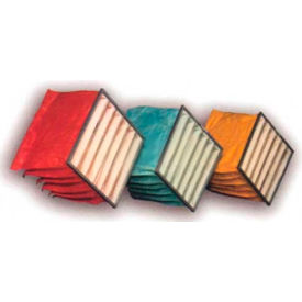 "Filtration Manufacturing 0701-86242422 Bag Filter, Merv 13, 6 Pockets, 24""W x 24""H x 22""D - Pkg Qty 4"