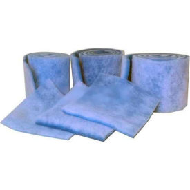 """Filtration Manufacturing 1110-36901 Polyester Media Roll, MERV 6, Blue/White, 1080""""L x 36""""H x 1""""D"""