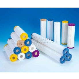 """Pleated Filter, Synthetic, 50 Micron 2-3/4""""Dia. X 9-3/4""""H - Pkg Qty 50"""
