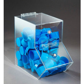 "FTR Enterprises Acrylic Dispensing Bin, Small, Clear, 5-1/2""W x 9-1/2""D x 9""H"