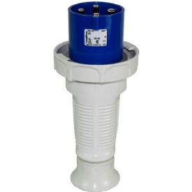 Walther Electric 269409, Male Plug, 60/63A, 4P, 230/250Vac, 6 Hr, IP67 With Cable Gland
