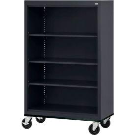 "Sandusky Steel Mobile Bookcase 36""W x 18""D x 58""H - Black"