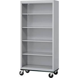 "Sandusky Steel Mobile Bookcase 36""W x 18""D x 78""H - Gray"