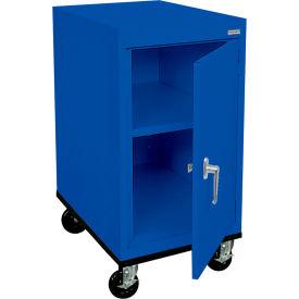 Sandusky Mobile Work Height Storage Cabinet TA11182430 Single Door - 18x24x36, Blue