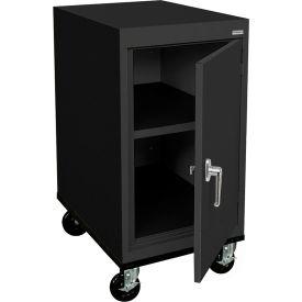Sandusky Mobile Work Height Storage Cabinet TA11182430 Single Door - 18x24x36, Black