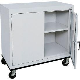 Sandusky Mobile Work Height Storage Cabinet TA11361830 Double Door - 36x18x30, Gray