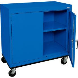Sandusky Mobile Work Height Storage Cabinet TA11361830 Double Door - 36x18x30, Blue