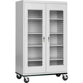 Sandusky Expanded Metal Door Mobile Storage Cabinet TA4M362472 - 36x24x78, Gray