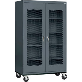 Sandusky Expanded Metal Door Mobile Storage Cabinet Ta4m462472 46x24x78 Charcoal