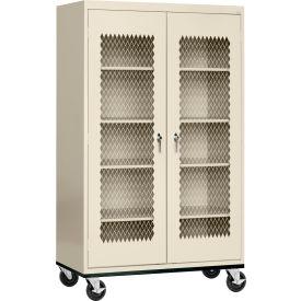 Sandusky Expanded Metal Door Mobile Storage Cabinet TA4M462472 - 46x24x78, Putty