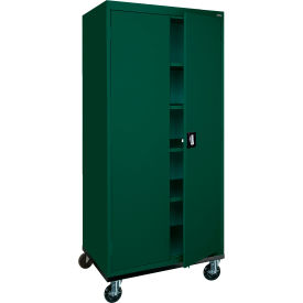 Sandusky Mobile Storage Cabinet TA4R302466 - 30x24x72, Green