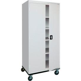 Sandusky Mobile Storage Cabinet TA4R362472 - 36x24x78, Gray