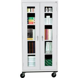 Sandusky Mobile Clear View Storage Cabinet TA4V361872 - 36x18x78, Light Gray