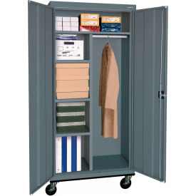 Sandusky Mobile Combination Cabinet TACR362472 - 36x24x78, Charcoal
