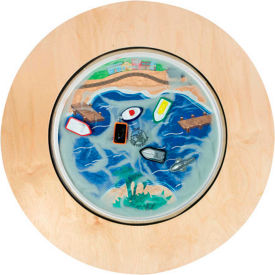 """The Children's Furniture Company Round Magnetic Sand Table Ocean, 36""""W x 22""""H, Orange by"""