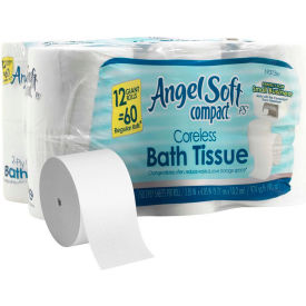 GP Angel Soft Compact Coreless 2-Ply Premium Bathroom Tissue, 750 Sheets/Roll 12 Rolls/Case -1937300