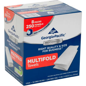 GP Georgia-Pacific Professional Series 1-Ply Multifold Paper Towels, 2000 Towels/Case 2212014