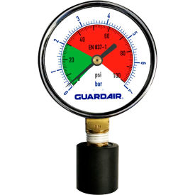 Guardair 100M05A, Pressure Gauge With Rubber Tip 0-60psi - Min Qty 2