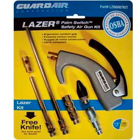 Guardair LZR6007KIT, Lazer Palm Switch Safety Air Gun Kit (Pkg.)