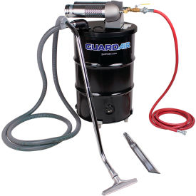 "Guardair 55 Gallon Dual B Pneumatic Vacuum Unit w/ 1.5"" Inlet & Attachment Kit - N552BCX"