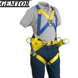 Gemtor 2005-4, Tower Climber Full-Body Harness - Quick Connect Leg Straps - XL