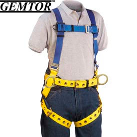 Gemtor 855H-2, Full-Body Harness - Hip D-Rings - Universal - Tongue Buckle Waist Belt/Legs