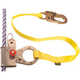"Rope Grab - 5/8""-3/4"" Diameter Lifeline - Attached 3' Web Lanyard"