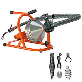 "General Wire PH-DR-B Drain-Rooter PH Drain/Sewer Cleaning Machine W/ 50' x 5/16"" Cable & Cutter Set"