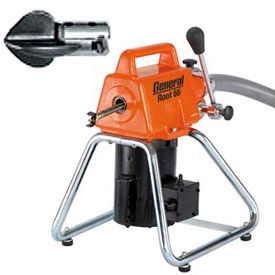 General Wire RT-66-D Root 66 Drain/Sewer Cleaning Machine W/ 11 Cables, 2 Cutter Sets & Tool Box