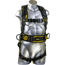 Guardian 21034 Cyclone Construction Harness, Pass Thru Chest Connection, M-L