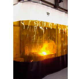 Goff's Weld Curtain 31421 with Straight Track & Hardware - 6'W x 10'H