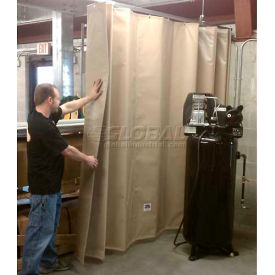 """Goff's Stock Sounder Curtain 31976 with Hardware - 14'10""""W x 10'H - Beige"""