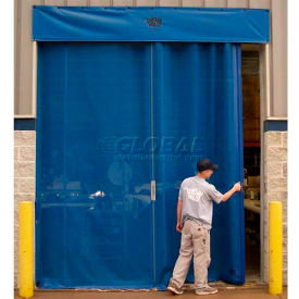 Goff's Bug Blocking Manual Side Seal Door - 10'W x 10'H - Yellow