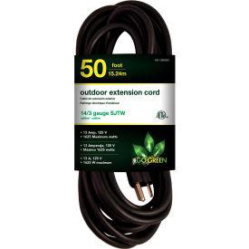 GoGreen Power, GG-13850BK, 50 Ft Extension Cord - Black