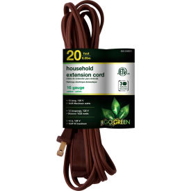 GoGreen Power, GG-24820, 20 Ft Household Extension Cord - Brown