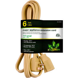 GoGreen Power, GG-25606, 6 Ft Appliance Cord - Beige
