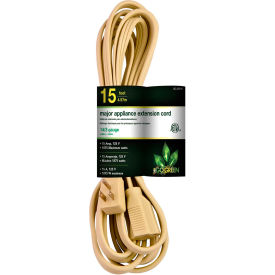 GoGreen Power, GG-25615, 15 Ft Appliance Cord - Beige