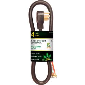 GoGreen Power, GG-27304, Dryer Cord Black - 4 Ft