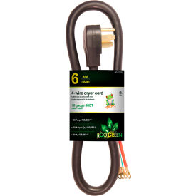 GoGreen Power, GG-27306, Dryer Cord Black - 6 Ft