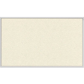 "Ghent® 48""W x 36""H Aluminum Frame Vinyl Bulletin Board - Ivory"