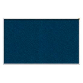 "Ghent® 48""W x 36""H Aluminum Frame Vinyl Bulletin Board - Navy"
