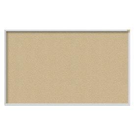 "Ghent® 60""W x 36""H Aluminum Frame Vinyl Bulletin Board - Caramel"