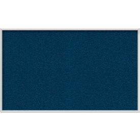 "Ghent® 60""W x 36""H Aluminum Frame Vinyl Bulletin Board - Navy"