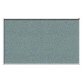 "Ghent® 60""W x 36""H Aluminum Frame Vinyl Bulletin Board - Stone"