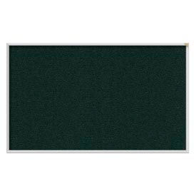 Ghent® 4' x 10' Aluminum Frame Vinyl Bulletin Board - Ebony