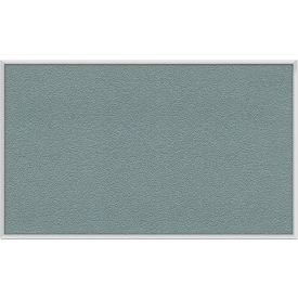 Ghent® 4' x 10' Aluminum Frame Vinyl Bulletin Board - Stone